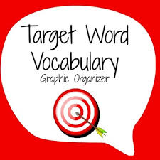 vocabulary graphic organizer target word template by mathematic