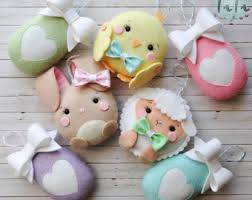 Easter Decorations In Ireland by Easter Felt Etsy
