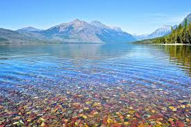 the colored pebbles of lake mcdonald amusing planet