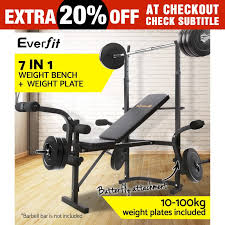 Exertec Fitness Weight Bench Weight Bench Set With Weights Weight Bench With Weights Set Bar