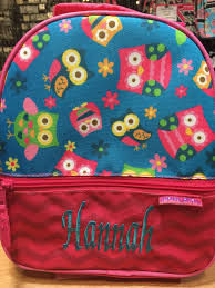 stephen joseph owl theme all over lunch box for girls u2013 coho bags