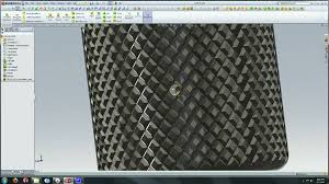 solidworks tutorial creating a knurl surface watch design