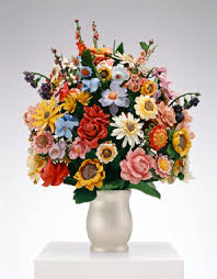 Bouquet Of Flowers In Vase Jeff Koons Artwork Large Vase Of Flowers