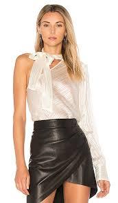 one shoulder blouse rosie hw x rona one shoulder blouse in white revolve