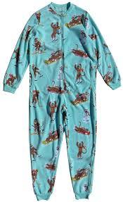Sock Monkey Baby Bedding Nick U0026 Nora Women U0027s Sock Monkey Fleece One Piece Zip Front Pajamas