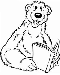 dog house coloring pages bear inthe big blue house read a book coloring pages netart