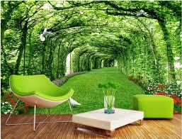 d oration chambre peinture 3d chambre papier peint personnalisé mural parc forest lawn