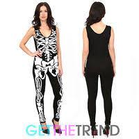 womens skeleton jumpsuit h m black jumpsuit all in one onsie hooded