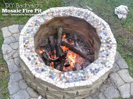 diy backyard mosaic firepit hometalk