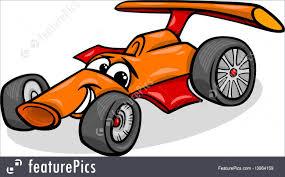 auto transport racing car bolide cartoon stock illustration