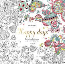 Livre Happy days Carnet de Coloriage Park Young Mi Marabout