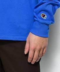 royal blue chion royal blue sleeve t shirt zumiez