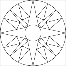 easy geometric coloring pages coloring page