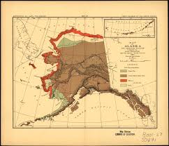 Alaska And Russia Map by Map Of Alaska And Adjoining Regions Showing Distribution Of Foxes