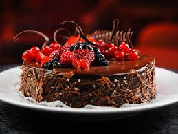 happy birthday chocolate cake with strawberries beautiful