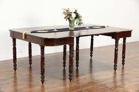 Console To Dining Table Sold Empire 1820 U0027s Antique Pair Acanthus Carved Mahogany Console