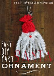 santa ornament yarn craft left on peninsula road