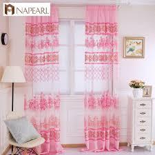 Purple Floral Curtains Tulle Curtain Purple Floral Transparent Sheer Fabrics Window