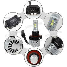 9008 h13 12000lm headlamp high low beam 6500k led bulbs replace