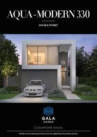 narrow modern homes double storey house plans archives gala homes aqua modern330 small