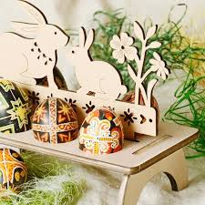 wooden easter eggs creative wooden easter egg shelves egg stand carry hold eggs rack