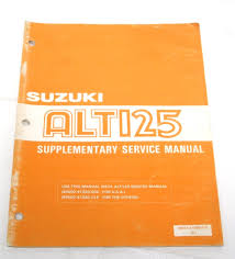 1984 84 genuine suzuki alt125 supplementary service manual oem