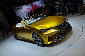 lexus yellow lexus lf c2 concept la auto show news and pictures evo
