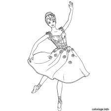 Coloriage barbie ballerine  JeColoriecom