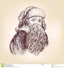 image gallery of realistic santa claus drawing