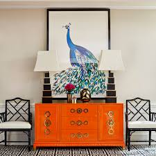 turner orange and brass credenza modern furniture jonathan adler