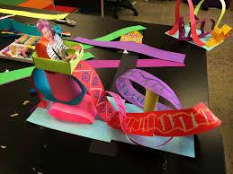 smart class roller coaster paper sculpture kids art pinterest