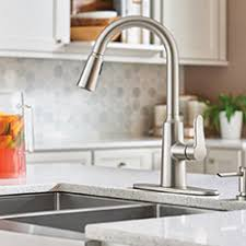moen waterhill kitchen faucet moen faucets sinks showers at lowe s