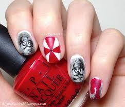 resident evil nail art i heart nail art