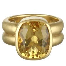 golden gold rings images Faye kim antique cushion golden beryl gold ring at 1stdibs jpg