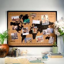 Cork World Map by Channeldistribution Milimetrado World Map Corkboard Wit Wooden