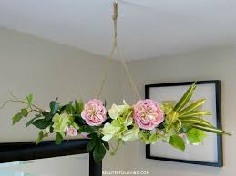 How To Make A Fake Chandelier Hanging Floral Chandelier Diy Hometalk