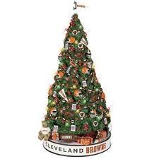 cleveland browns christmas tree the danbury mint