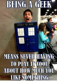 Geek Meme - being a geek police box means neveriaming to play cool about how