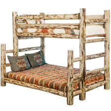 Twin And Full Bunk Beds by Montana Skip Peel Twin Over Full Log Bunk Bed Rustic Log