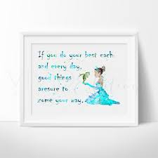 disney tiana princess frog nursery art quote print wall