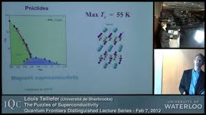 quantum frontiers lecture louis taillefer the puzzles of