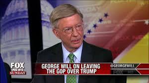 george will responds to trump u0027s tweet on him leaving republican