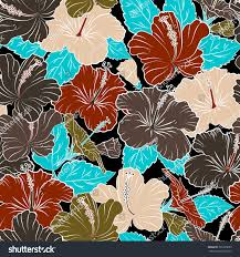 Exotic Colors by Exotic Flowers Allover Composition Pattern Summer Stock