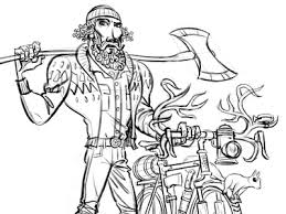 lumberjack cyclist sketch by steve lowtwait dribbble