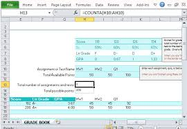 Grade Book Template Excel Track Grades With S Grade Book For Excel