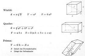 fläche kreis formel stereometrie formeln umfang kreis