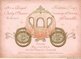 coral baby shower fairytale coach baby shower invitation princess royal