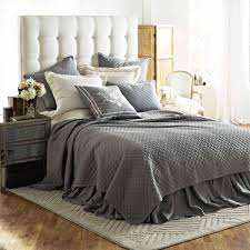 lili alessandra emily diamond quilted bedding collection in ash
