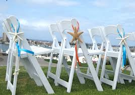 beach wedding decor starfish chair decoration with natural