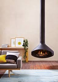 ergofocus pivoting suspended fireplace oblica designer fireplaces
